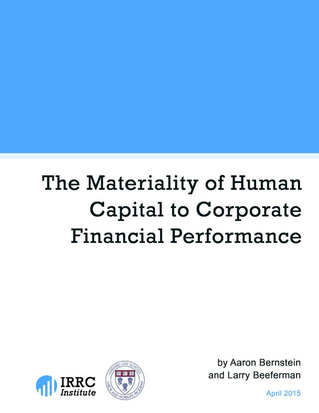 686119e738e9 Advisorselect - The Materiality of Human Capital to Corporate ...
