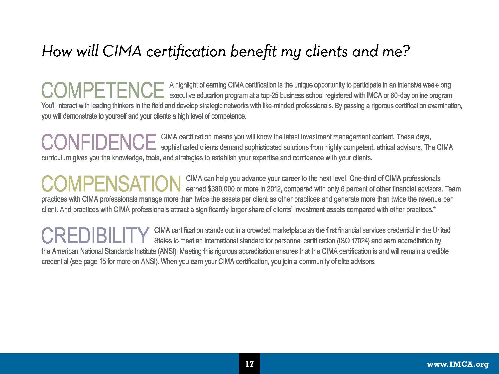 Advisorselect - What is IMCA? Proven to help you